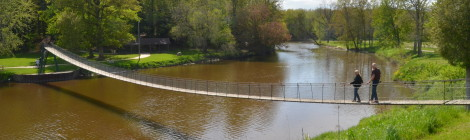 The Famous Croswell Swinging Bridge (Michigan's Longest Suspension Footbridge), Sanilac County