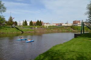 Croswell Swinging Bridge Michigan Kayaks Black River