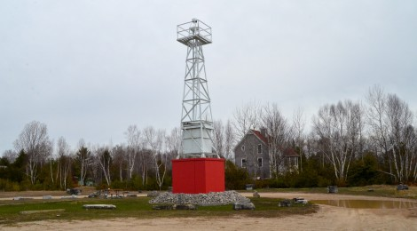 Michigan Roadside Attractions: 1930 Portage Lake Pierhead Light, Onekama