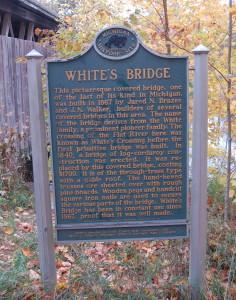 Whites Bridge Historical Marker Michigan