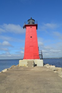 Manistique East Breakwater Lighthouse Michigan Vertical