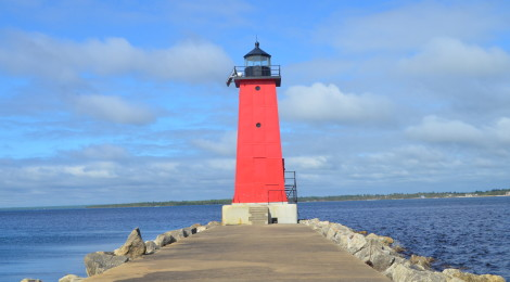 Manistique East Breakwater Lighthouse, Lake Michigan