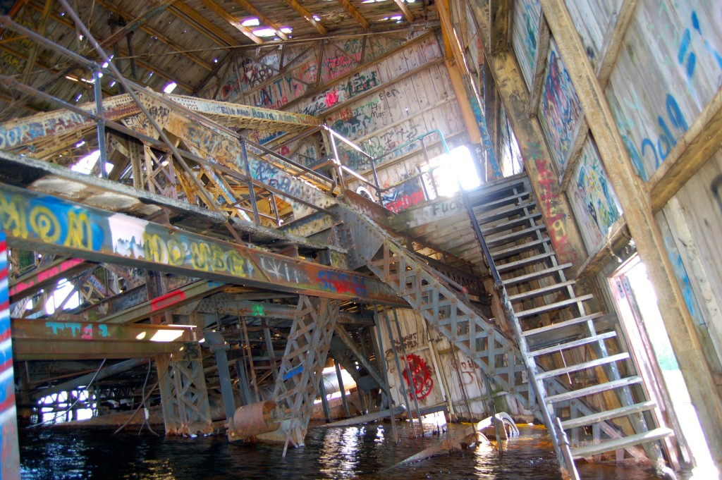 Kayaking inside the Quincy Dredge, June