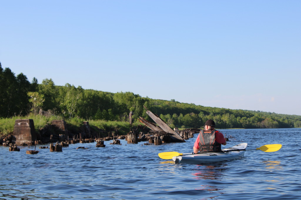 Quincy Dredge Kayak Dock Ruins
