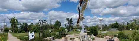 Michigan Roadside Attractions: World's Largest Brown Trout Sculpture, Baldwin