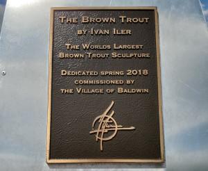 Brown Trout Sculpture Ivan Iler Baldwin MI