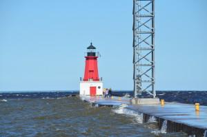 Menominee Lighthouse Lake Michigan