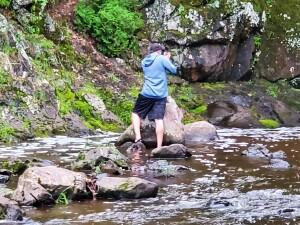 Powderhorn Falls Bessemer Wading Creek