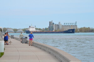 Blue Water River Walk Port Huron Freighter
