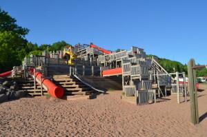 Chutes and Ladders Houghton Michigan Playground