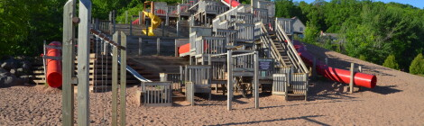 Chutes and Ladders Playground in Houghton is Fun For All Ages