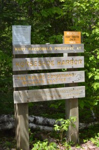 Horseshoe Harbor Mary MacDonald Preserve Sign