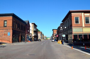 Houghton Michigan Downtown Street View