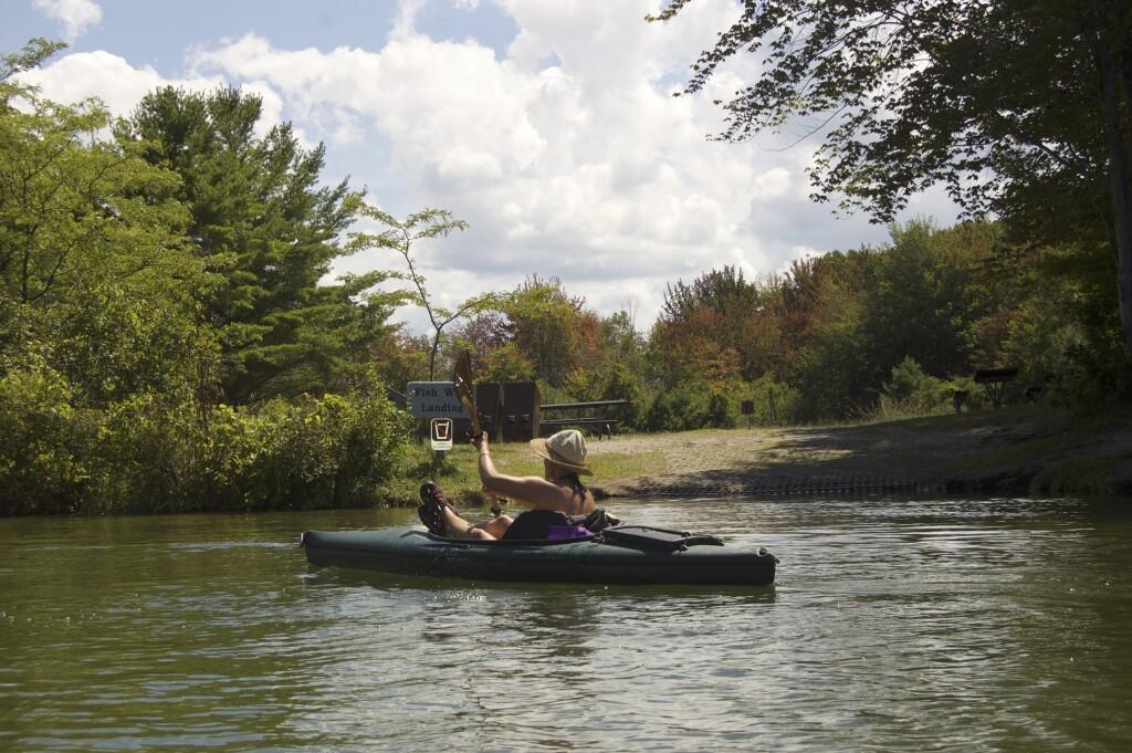 Platte River Kayak Sleeping Bear Dunes Fish Weir