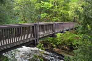 Presue Isle Waterfalls Suspension Bridge