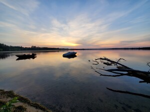 William Mitchell State Park Cover Photo Sunset Boats