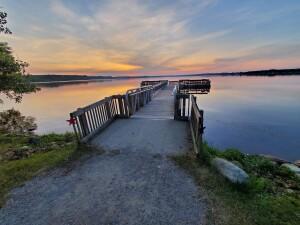 William Mitchell State Park Fishing Pier Sunset