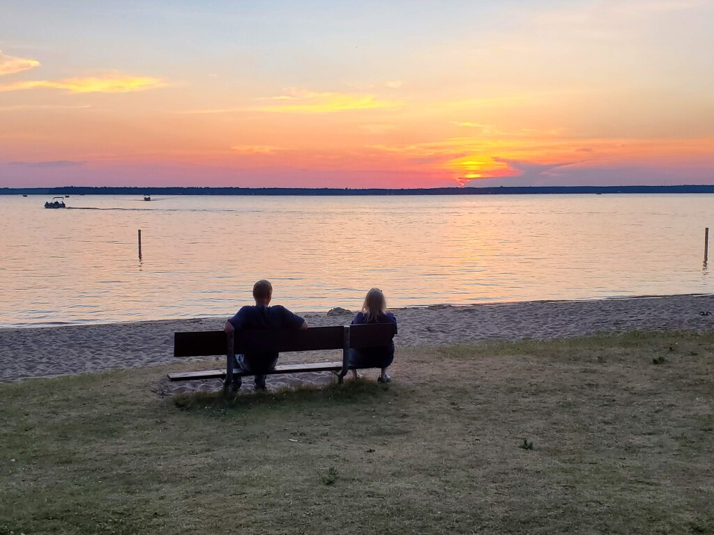 Sunset at Mitchell State Park, Cadillac, July