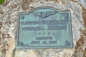 Woolsey Memorial Airport Dedication Plaque