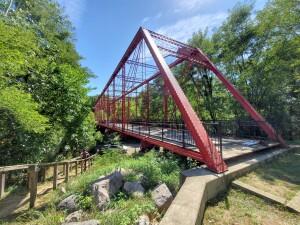 Battle Creek Historic Bridge Park Metal Truss