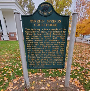 Berrien County Courthouse Michigan Historical Marker