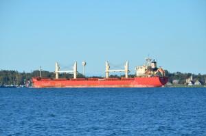 Drummond Island Michigan Vessel Passage Freighter