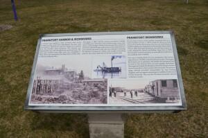 Frankfort Iron Works History Sign Elberta Michigan