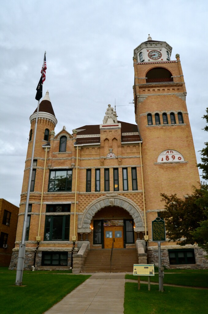 Iron County Courthouse, Crystal Falls, June