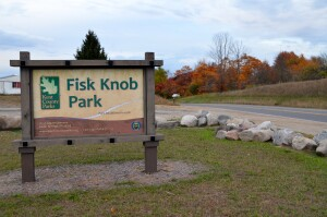 Kent County Fall Color Tour Fisk Knob Park Sign