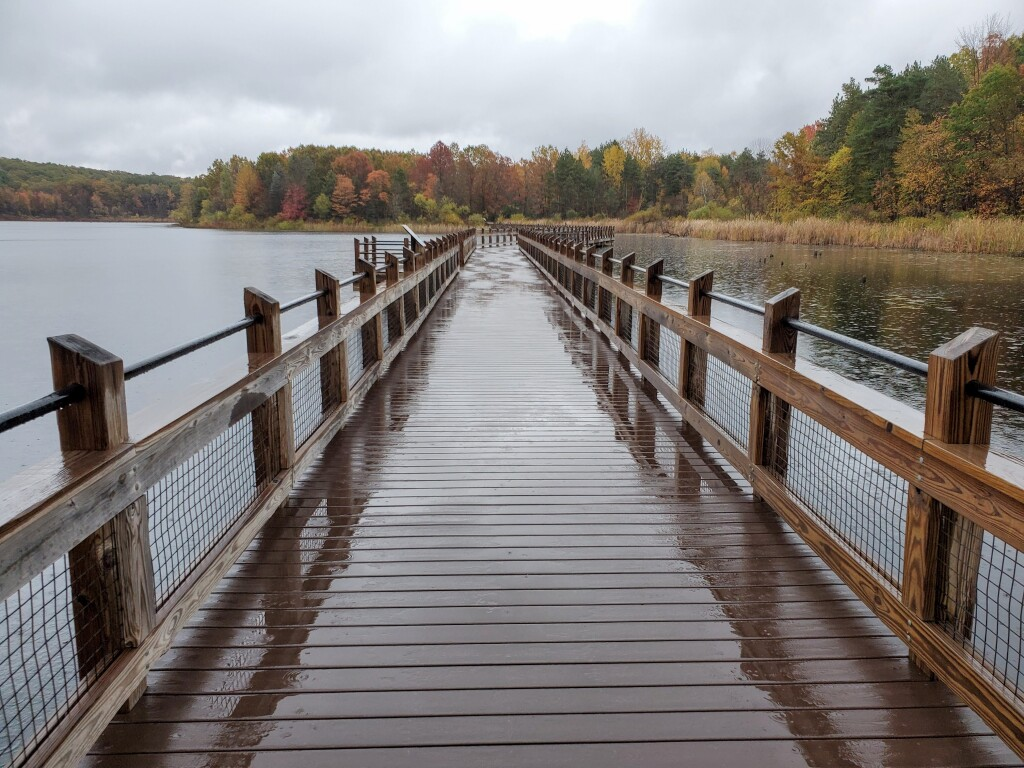 Kent County Fall Color Tour Pickerel Lake Park Boardwalk