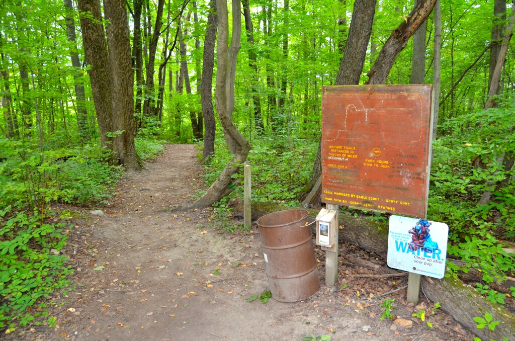 Lincoln Brick Park Hiking Trails Map