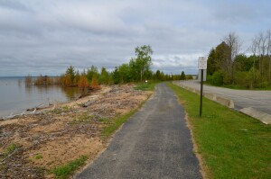 Manistique Boardwalk Trail Lake Michigan