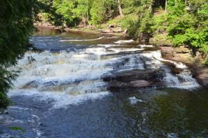 Nawadha Falls Presque Isle Waterfalls Hike