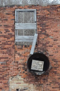 Window View Frankfort Iron Works Ruins
