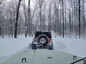 Drummond Island Winter Jeep Nathan Boyce