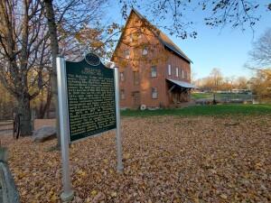 Bellevue Gothic Mill Michigan Historical Marker