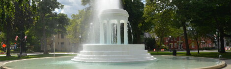 Michigan Roadside Attractions: Brooks Memorial Fountain in Marshall