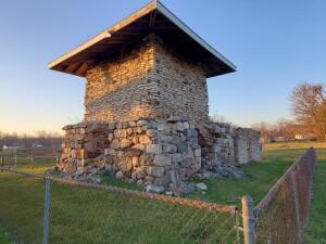 Dyer Kiln Ruins Sunset Bellevue Michigan