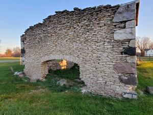 Dyer Kiln Ruins Wall Bellevue Michigan