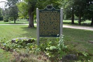 Fitzgerald Park Michigan Historical Marker Grand Ledge
