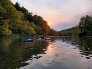 Flat River Kayak Sunset