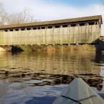 Paddle Under Two Covered Bridges on a Flat River Kayak Trip