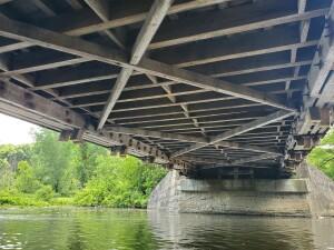Flat River Kayak under Fallasburg Covered Bridge