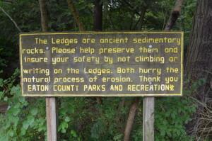 Grand Ledge Fitzgerald PArk Trail Sign
