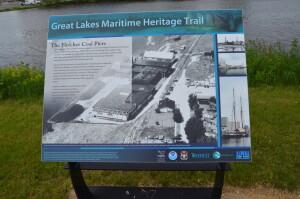 Great Lakes Maritime Heritage Trail Fletcher Coal Docks Info PlaqueJPG