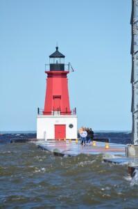 Menominee North Pier Lighthouse Lake Michigan