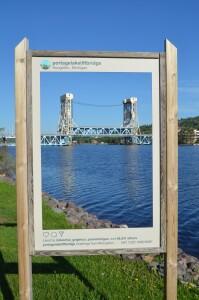 Portage Lake Lift Bridge Houghton Michigan
