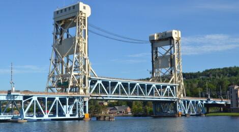 Michigan Landmarks: Portage Lake Lift Bridge