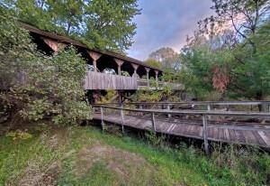 Reed City Covered Bridge Michigan White Pine Trail