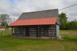 Schoolcraft County Museum Michigan Log Cabin